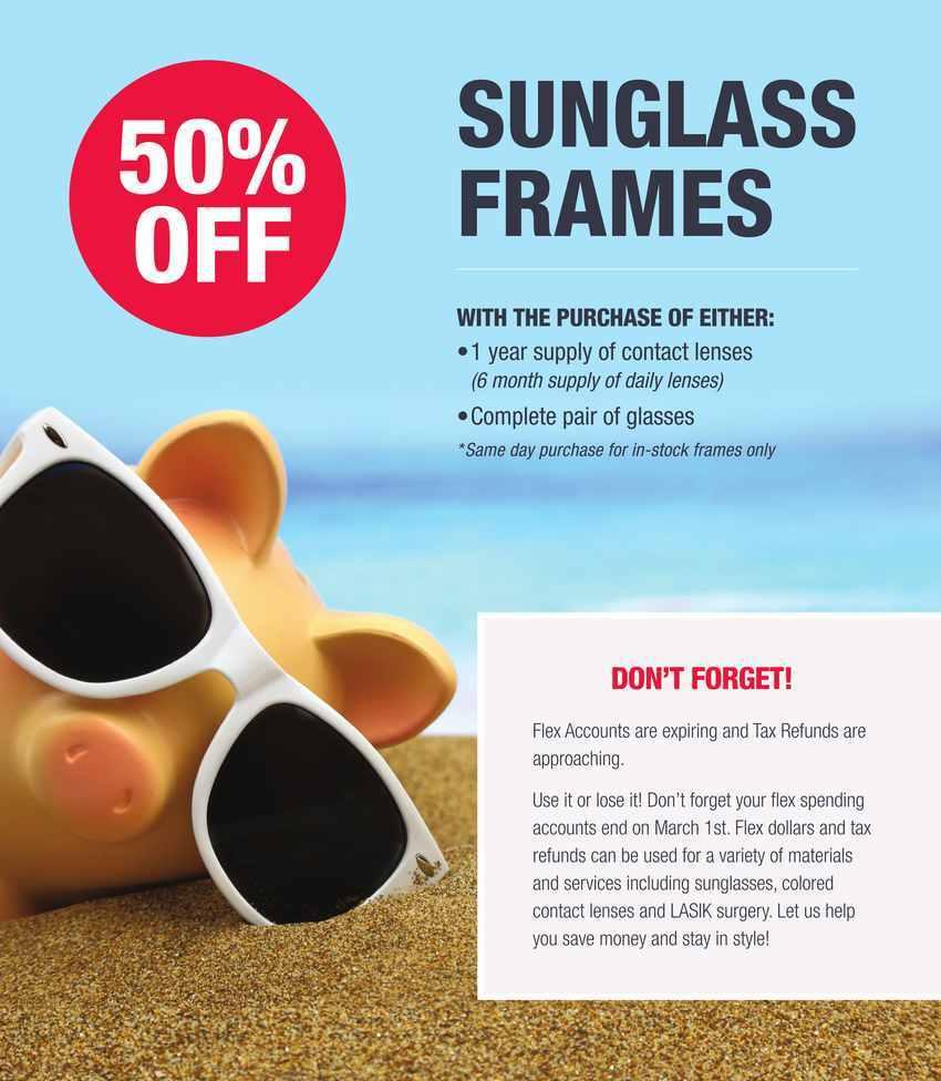 save 50% off sunglasses in Playa Del Rey